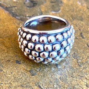 Michael Dawkins Caviar Dot Domed Ring